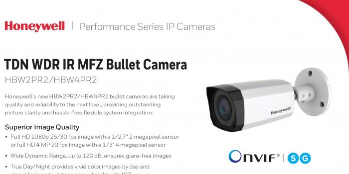กล้องวงจรปิด รุ่น HBW2PR2 ที่โดดเด่นด้านคุณภาพการใช้งานและด้วยแบรนด์ Honeywell