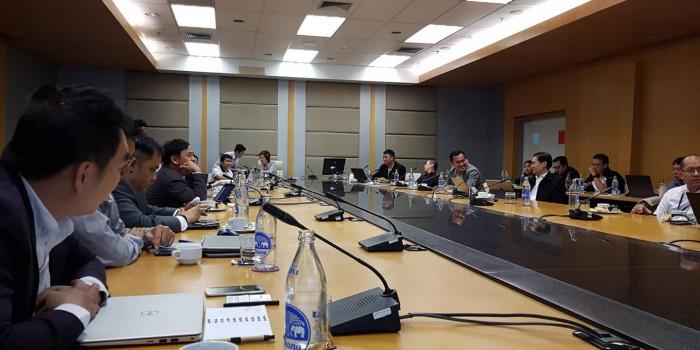 บรรยากาศการประชุมคณะกรรมการบริหารสมาคมครั้งที่ 1/2561 สมาคมระบบกล้องวงจรปิดอัจฉริยะไทย